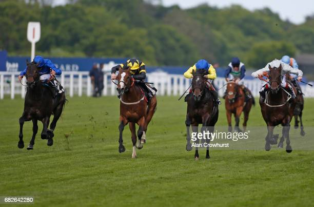William Buick riding Aqabah win The totepoolliveinfocom Novice Stakes at Ascot Racecourse on May 13 2017 in Ascot England