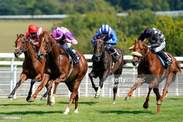 William Buick riding Cepheus win The TDN Australia Handicap at Goodwood Racecourse on July 31 2020 in Chichester England Owners are allowed to attend...