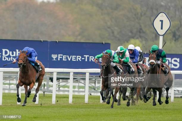 William Buick riding Creative Flair win The Naas Racecourse Royal Ascot Trials Day British EBF Fillies' Conditions Stakes at Ascot Racecourse on...