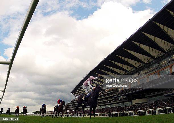 William Buick riding Fallen For You wins The Coronation Stakes during Royal Ascot at Ascot racecourse on June 22 2012 in Ascot England