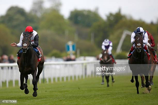 William Buick riding Golden Horn win The Betfred Dante Stakes from Jack Hobbs at York racecourse on May 14 2015 in York England