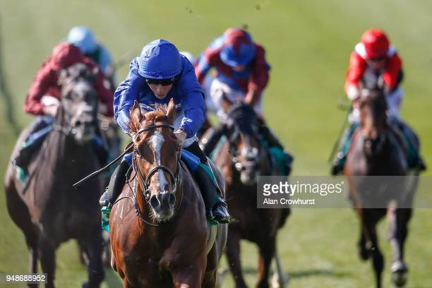 William Buick riding Masar win The bet365 Craven Stakes at Newmarket racecourse on April 19 2018 in Newmarket England
