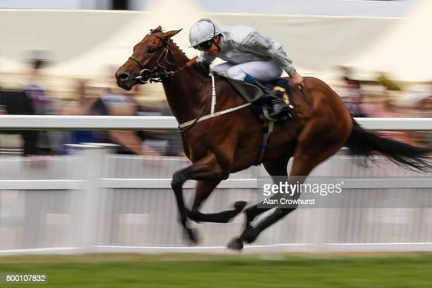 William Buick riding Permian win The King Edward VII Stakes on day 4 of Royal Ascot at Ascot Racecourse on June 23 2017 in Ascot England