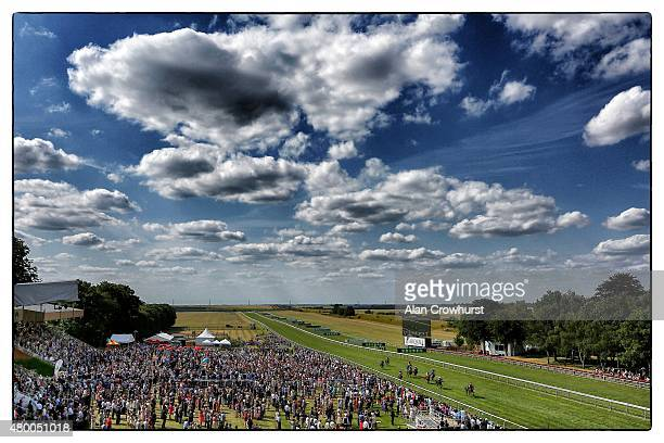 William Buick riding Resonant win The Unibet Handicap Stakes at Newmarket racecourse on July 09 2015 in Newmarket England