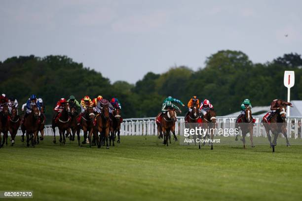 William Buick riding Robero win The Winning Post Bookmakers Bristol Handicap Stakes at Ascot Racecourse on May 13 2017 in Ascot England