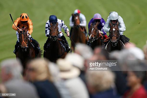 William Buick riding Yalta win The NJS Group EBF Novice Stakes at Goodwood racecourse on May 19 2016 in Chichester England