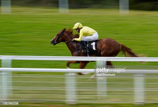 William Buick riding Zamaani win The New Unibet Instant Roulette Nursery at Goodwood Racecourse on July 31 2020 in Chichester England Owners are...