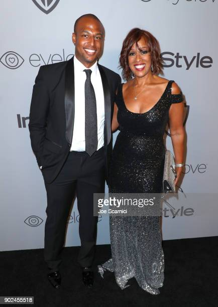 William Bumpus Jr and Gayle King attend the 2018 InStyle and Warner Bros 75th Annual Golden Globe Awards PostParty at The Beverly Hilton Hotel on...