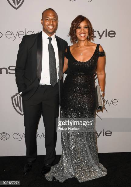 William Bumpus Jr and TV personality Gayle King attend 19th Annual PostGolden Globes Party hosted by Warner Bros Pictures and InStyle at The Beverly...