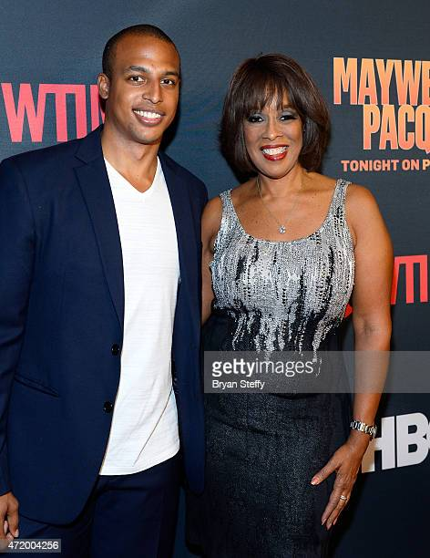 William Bumpus Jr and TV personality Gayle King attend the SHOWTIME And HBO VIP PreFight Party for Mayweather VS Pacquiao at MGM Grand Hotel Casino...