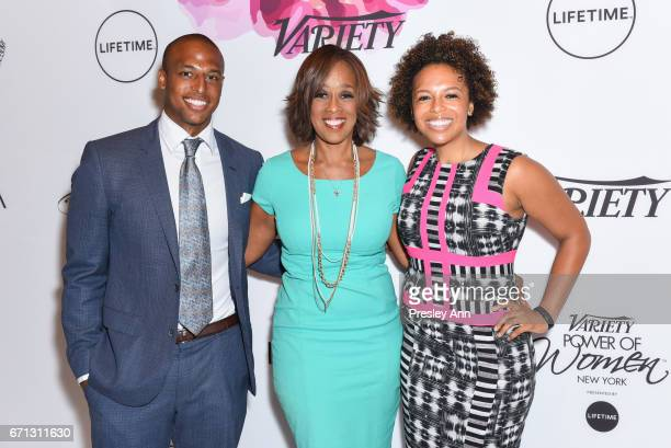 William Bumpus Jr Gayle King and Kirby Bumpus attend Variety's Power of Women New York at Cipriani Midtown on April 21 2017 in New York City