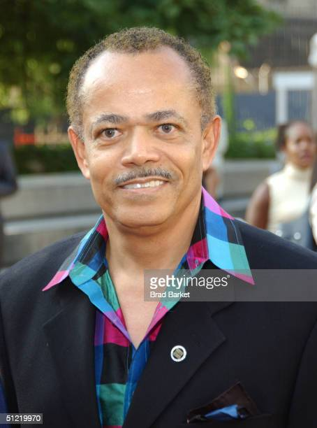 William Burgess arrives at the National Black Sports and Entertainment Hall of Fame at Aaron Davis Hall on August 25 2004 in New York City