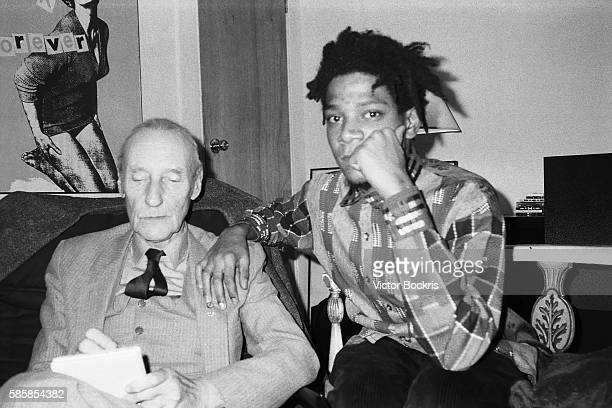 William Burroughs and Jean Michel Basquiat in New York City around Christmas of 1986