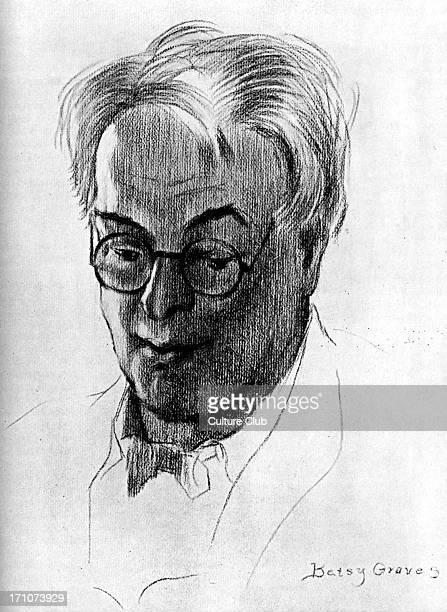 William Butler Yeats William Butler Yeats: Irish poet and dramatist, 13 June 1865 - 28 January 1939. Drawing by Betsy Graves. 1930s portrait,