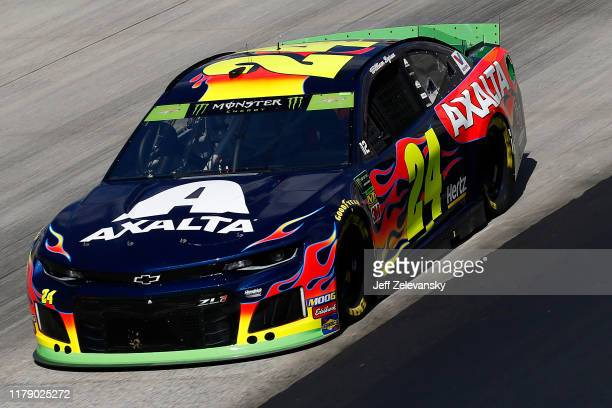 William Byron driver of the Axalta Chevrolet drives during practice for the Monster Energy NASCAR Cup Series Drydene 400 at Dover International...