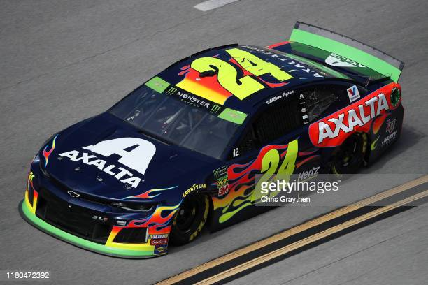 William Byron driver of the Axalta Chevrolet during practice for the Monster Energy NASCAR Cup Series 1000Bulbscom 500 at Talladega Superspeedway on...