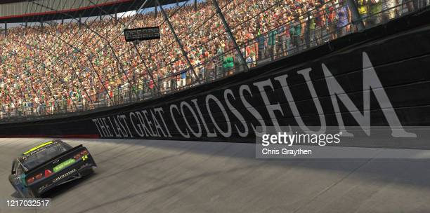 William Byron, driver of the Axalta Chevrolet, wins at Bristol Motor Speedway on April 05, 2020 in Bristol, Tennessee.
