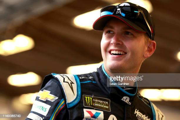 William Byron driver of the Axalta Patriotic Chevrolet standuring practice for the Monster Energy NASCAR Cup Series Coke Zero Sugar 400 at Daytona...