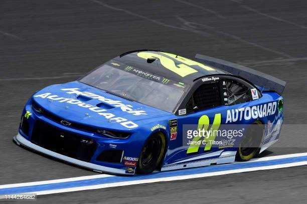 William Byron driver of the Hendrick Autoguard Chevrolet practices for the Monster Energy NASCAR Cup Series AllStar Race and the Monster Energy...
