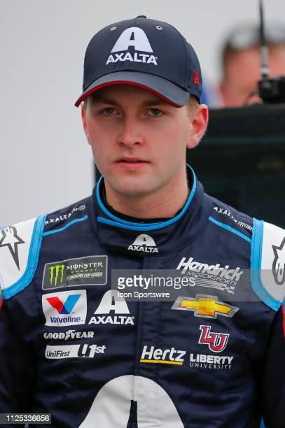 William Byron driver of the Hendrick Motorsports Axalta Chevrolet Camaro during final practice for the Daytona 500 on February 16 2019 at Daytona...