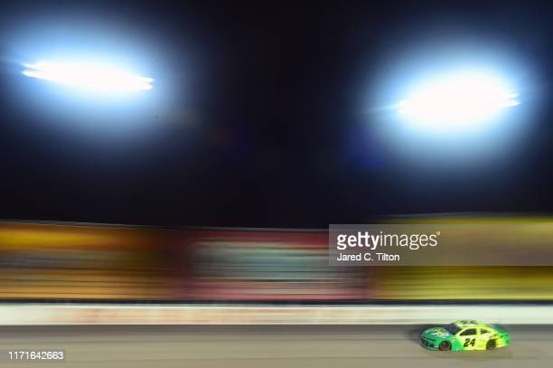 William Byron, driver of the HendrickAutoguard/CityChevrolet Throwback Chevrolet, races during the Monster Energy NASCAR Cup Series Bojangles'...