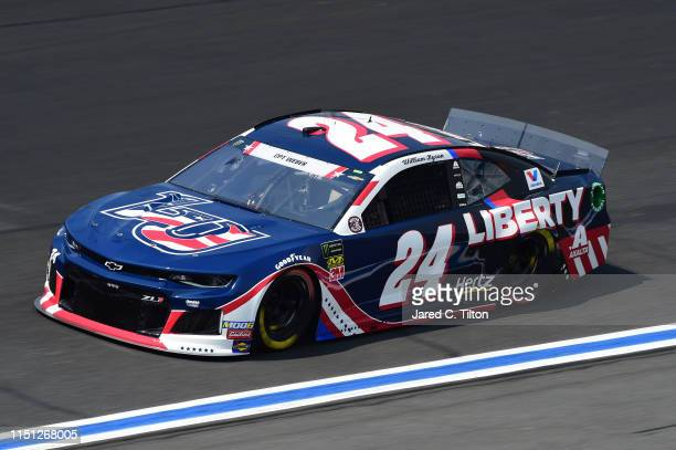 William Byron driver of the Liberty Patriotic Chevrolet practices for the Monster Energy NASCAR Cup Series CocaCola 600 at Charlotte Motor Speedway...