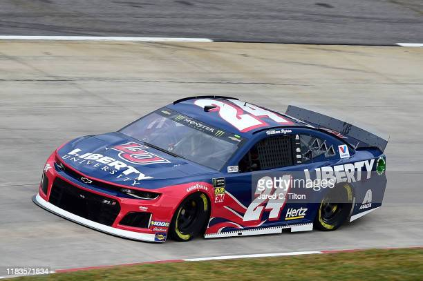 William Byron driver of the Liberty University Chevrolet practices for the Monster Energy NASCAR Cup Series First Data 500 at Martinsville Speedway...