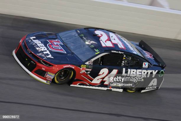 William Byron driver of the Liberty University Chevy during the Coke Zero 400 Monster Energy Cup Series race on July 7 at Daytona International...