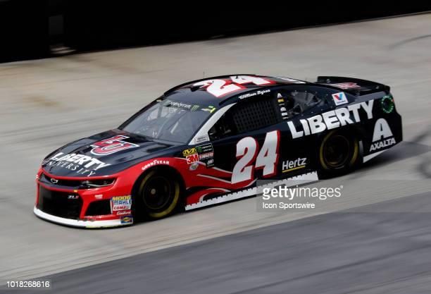 William Byron Hendrick Motorsports Chevrolet Camaro Liberty University during practice for the 58th Annual Bass Pro Shops NRA Night Race on Friday...