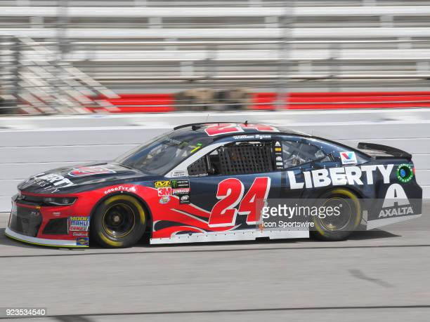 William Byron Hendrick Motorsports Liberty University Chevrolet Camaro during practice for the Monster Energy Cup Series Folds of Honor Quiktrip 500...