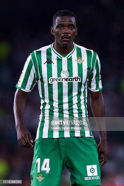 William Carvalho of Real Betis looks on during the La Liga match between Real Betis Balompie and Levante UD at Estadio Benito Villamarin on August 17...