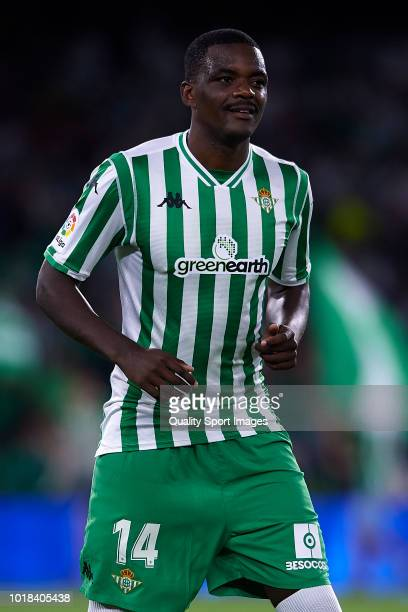 William Carvalho of Real Betis looks on prior to the La Liga match between Real Betis Balompie and Levante UD at Estadio Benito Villamarin on August...