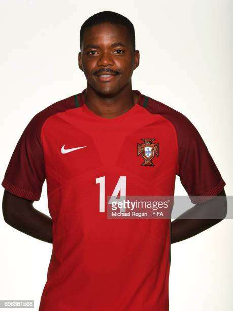 William Carvalho poses for a picture during the Portugal team portrait session on June 15 2017 in Kazan Russia