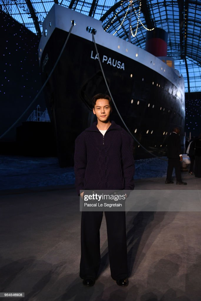 William Chan attends the Chanel Cruise 2018/2019 Collection at Le Grand Palais on May 3, 2018 in Paris, France.