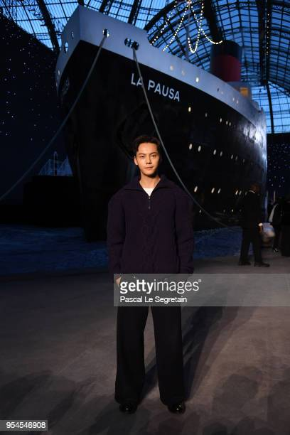 William Chan attends the Chanel Cruise 2018/2019 Collection at Le Grand Palais on May 3 2018 in Paris France