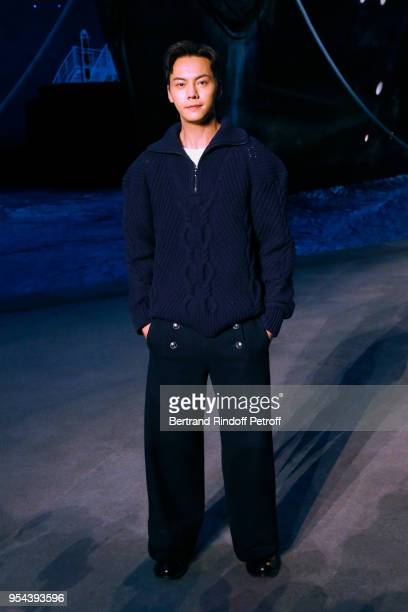 William Chan attends the Chanel Cruise 2018/2019 Collection Photocall at Le Grand Palais on May 3 2018 in Paris France