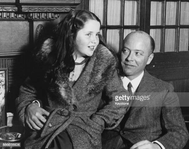William Christian Bullitt Jr the first United States ambassador to the Soviet Union with his daughter Anne at Plymouth UK 8th December 1933
