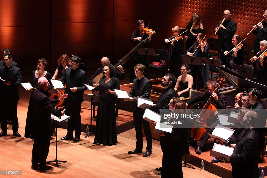William Christie leading Les Arts Florissants in all-Charpentier program at Alice Tully Hall on Friday night, October 19, 2012.The concert was part of Lincoln Center's White Light Festival.