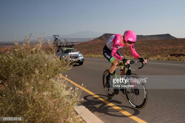 William Clarke of Australia and Team EF Education First-Drapac p/b Cannondale / during the 14th Larry H. Miller Tour of Utah, Prologue a 5,3km...