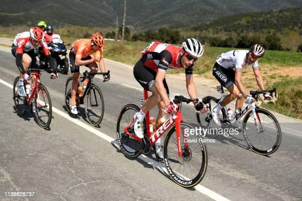 William Clarke of Australia and Team Trek - Segafredo / Brice Feillu of France and Team Arkea - Samsic / during the 99th Volta Ciclista a Catalunya...