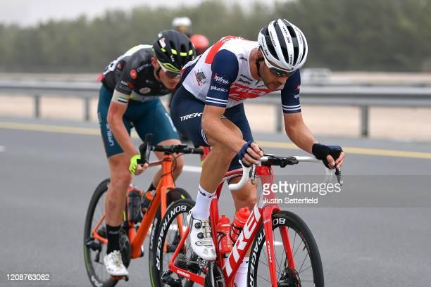 William Clarke of Australia and Team Trek - Segafredo / Veljko Stojnic of Serbia and Team Vini Zabu' KTM Black Intermediate Sprint Jersey / during...