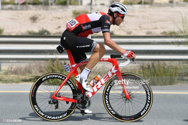 William Clarke of Australia and Team Trek-Segafredo / during the 5th UAE Tour 2019, Stage 4 a 197km stage from Palm Jumeirah - Dubai to Hatta Dam...