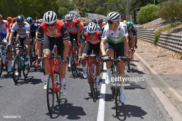William Clarke of Australia and Team Trek-Segafredo / Jarlinson Pantano of Colombia and Team Trek-Segafredo / Tom Jelte Slagter of The Netherlands...