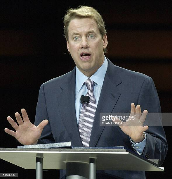 William Clay Ford Jr chairman and CEO of Ford Motor Company speaks at a press conference 09 January 2005 during the North American International Auto...