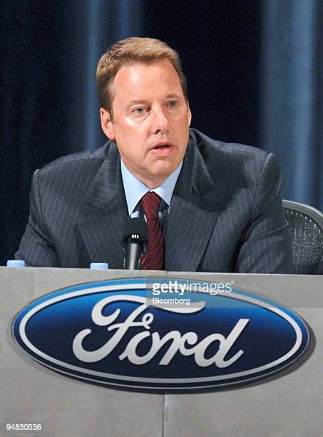 William Clay Ford Jr chairman and chief executive officer of Ford Motor Co speaks to shareholders at the 2008 Ford Motor Co Annual shareholders...