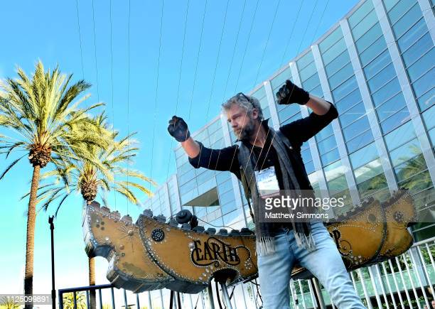 William Close plays the Earth Harp during the 2019 NAMM Show at the Anaheim Convention Center on January 26, 2019 in Anaheim, California.