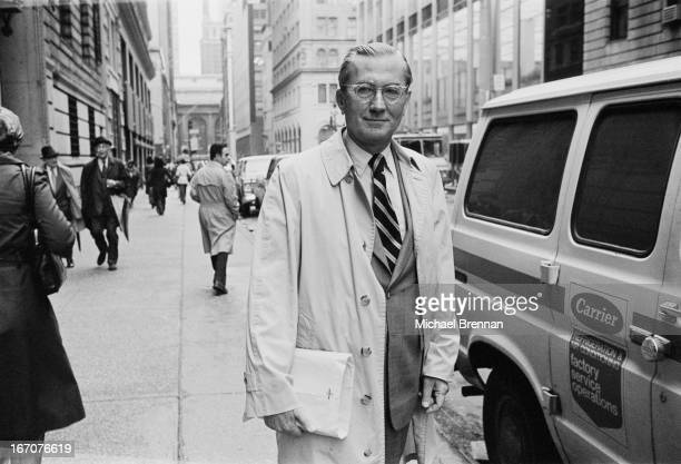 William Colby outside the Harvard Club New York 1978