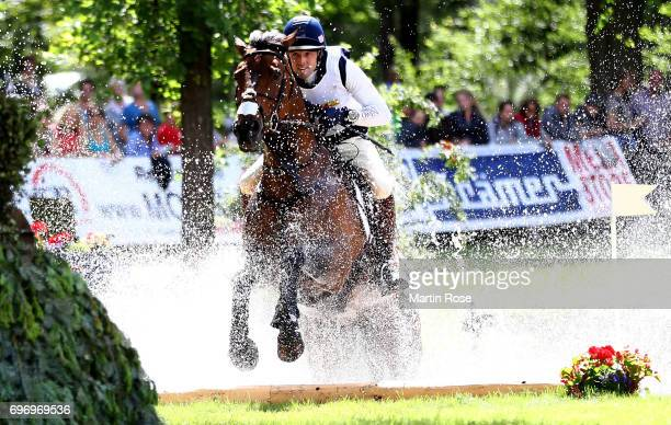 William Coleman of USA rides Obos o'Reilly during the CIC 4 star cross country at the Messmer Trophy on June 17 2017 in Luhmuhlen Germany