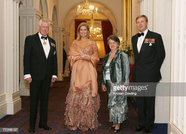 William Cox, Governor of Tasmania, Her Royal Highness Maxima of The Netherlands, Jocelyn Cox, wife of William Cox and His Royal Highness The Prince...