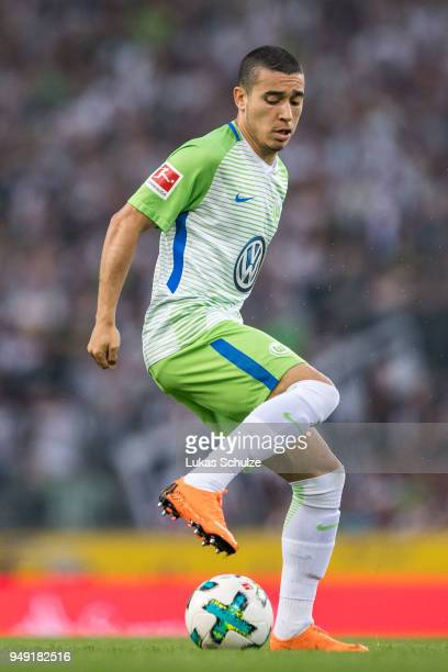 William de Asevedo Furtado of Wolfsburg in action during the Bundesliga match between Borussia Moenchengladbach and VfL Wolfsburg at BorussiaPark on...